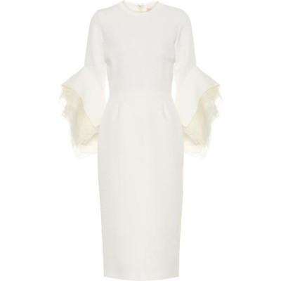 ロクサンダ Roksanda レディース パーティードレス ミドル丈 ワンピース・ドレス Ronda crepe bridal midi dress Ivory