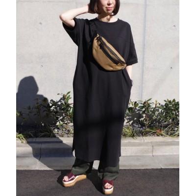 【フィズ】 切替デザインスリット入りTシャツワンピ mitis SS レディース ブラック M Fizz