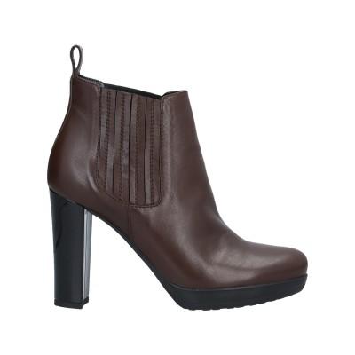 MARIA CRISTINA ショートブーツ ブラウン 40 革 / 指定外繊維(その他伸縮性繊維) ショートブーツ