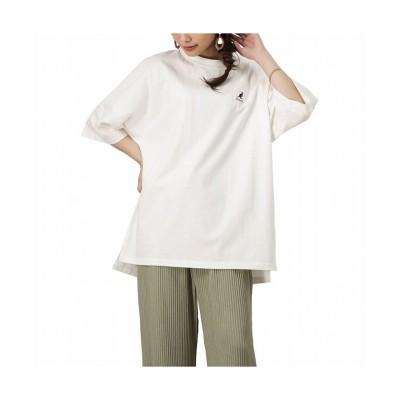 【マックハウス】 KANGOL カンゴール バックロゴTシャツ KPLC-00086 レディース ホワイト F MAC HOUSE
