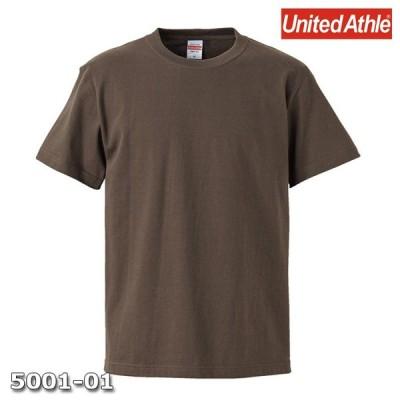 Tシャツ 半袖 メンズ ハイクオリティー 5.6oz S サイズ チャコール 無地 ユナイテッドアスレ CAB