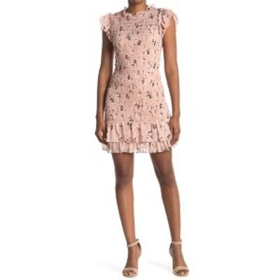 ヴェロニカ ベアード レディース ワンピース トップス Cici Floral Smocked Ruffle Dress BLUSH MULTI