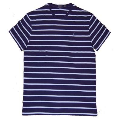 送料無料!Polo RalphLauren ポロ ラルフローレン  ボーダーTシャツ NAVY×BLUE クラッシックフィット