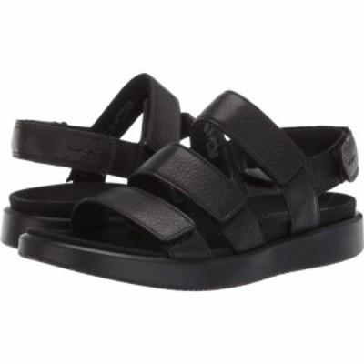 エコー ECCO レディース サンダル・ミュール シューズ・靴 Flowt 3 Strap Sandal Black Cow Leather