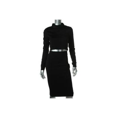 ドレス ワンピース Black Halo ブラック Halo 5408 レディース ブラック 2PC Outfit 長袖 Crop Top ドレス L BHFO