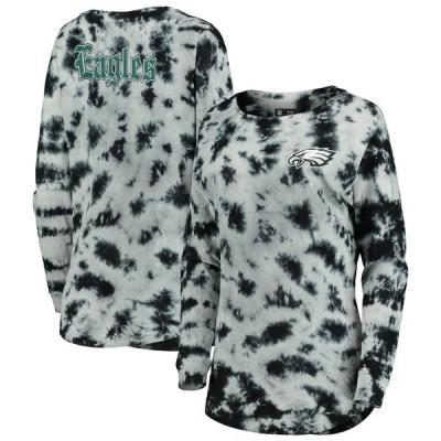 ニューエラ レディース Tシャツ トップス Philadelphia Eagles New Era Women's Tie-Dye Long Sleeve T-Shirt