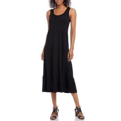 カレンケーン レディース ワンピース トップス Stretch Jersey Sleeveless Knit Tiered Midi Dress