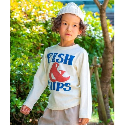 DIL baby & kids shop / ビックロゴ長袖Tシャツ KIDS トップス > Tシャツ/カットソー