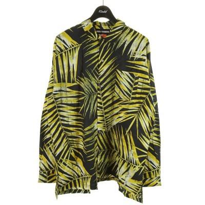DOUBLE RAINBOUU HAWAIIAN SHIRT 総柄シャツ イエロー×ブラック サイズ:M (和歌山店) 210602