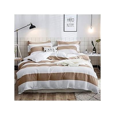 Merryfeel Cotton Duvet Cover Set, 100% Cotton Waffle Weave Stripe Bedding S