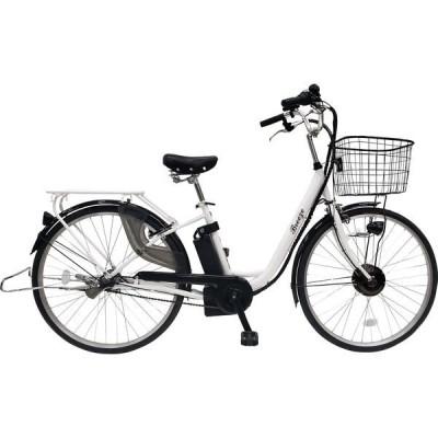 自転車・電動アシスト  カイホウジャパン SUISUI Breeze 26インチ電動アシスト軽快車 BM-PZ100-WH 1台(直送品)