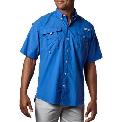 コロンビア Tシャツ トップス メンズ Columbia Men's PFG Bahama Button Down Shirt (Regular and Big & Tall) White
