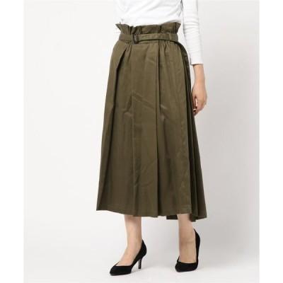 スカート 【basque】レーヨンチノロングスカート