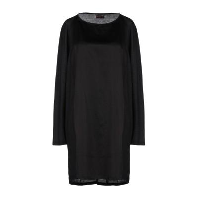 ALMERIA ミニワンピース&ドレス ブラック XS 100% コットン シルク ミニワンピース&ドレス