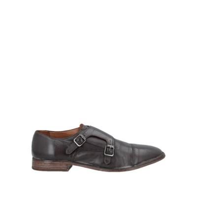MOMA メンズ モカシン シューズ 靴 ダークブラウン