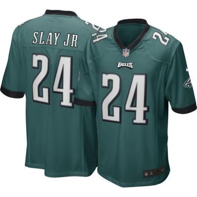 ナイキ Nike メンズ トップス Philadelphia Eagles Darius Slay #24 Green Game Jersey