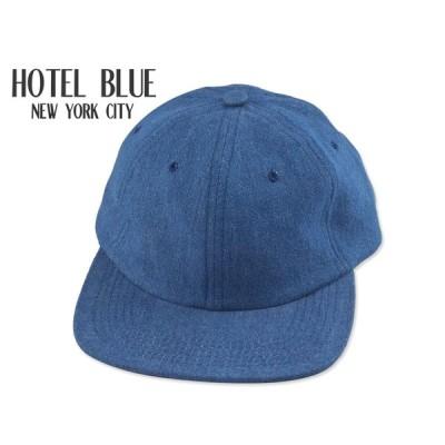 ☆HOTEL BLUE【ホテルブルー】ARCH LOGO EMBROIDERED CAP DENIM BLUE キャップ デニムブルー 18303