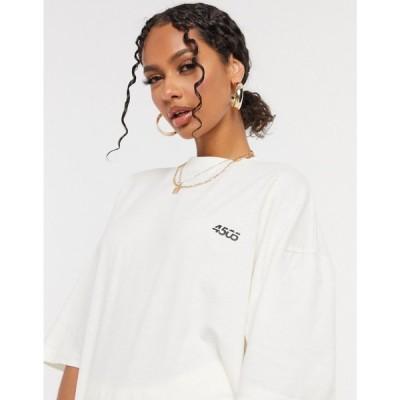 エイソス ASOS 4505 レディース Tシャツ トップス icon oversized cotton t-shirt オフホワイト