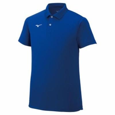 ミズノ 32MA967025L ユニセックス ポロシャツ(サーフブルー・サイズ:L)MIZUNO[32MA967025L] 返品種別A