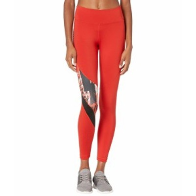 リーボック レディース カジュアルパンツ ボトムス Workout Ready Meet You There All Over Print Tights Legacy Red