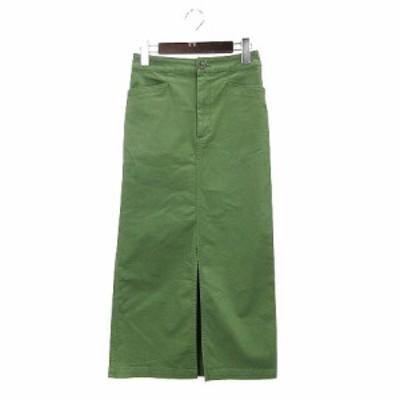 【中古】ジーンズ ファクトリークローズ JEANS FACTORY CLOTHES ロングスカート 40 グリーン 200928E レディース