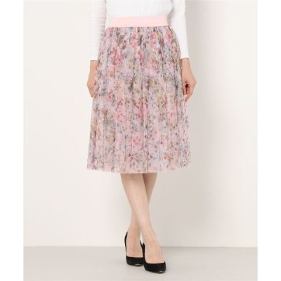 スカート BALETT フラワー x ピンク x フレアー スカート