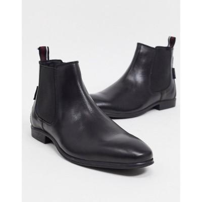 ベンシャーマン Ben Sherman メンズ ブーツ チェルシーブーツ シューズ・靴 chelsea boots in black leather ブラック
