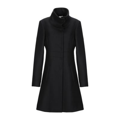 ANNIE P. コート ブラック 46 バージンウール 70% / ナイロン 20% / カシミヤ 10% コート