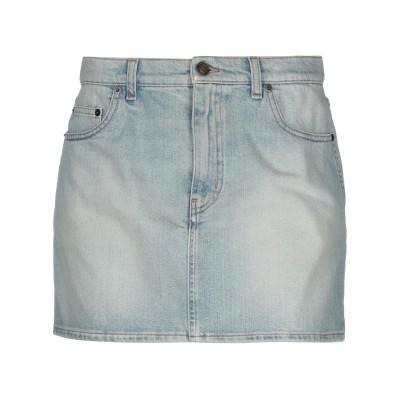 SAINT LAURENT デニムスカート ブルー 26 コットン 98% / ポリウレタン 2% デニムスカート