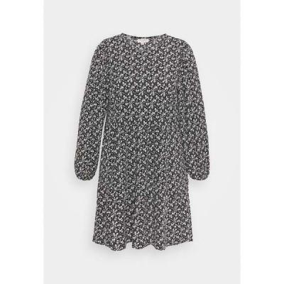 オンリー カルマコマ ワンピース レディース トップス CARZILLY CALF DRESS - Day dress - black/white flower