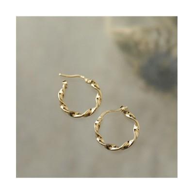 (LOUISE DAMAS/ルイーズダマス)LD ESM 4 Esmeralda エスメラルダ Small twisted hoop earrings ピアス フープ ゴールド レディース/レディース ゴールド