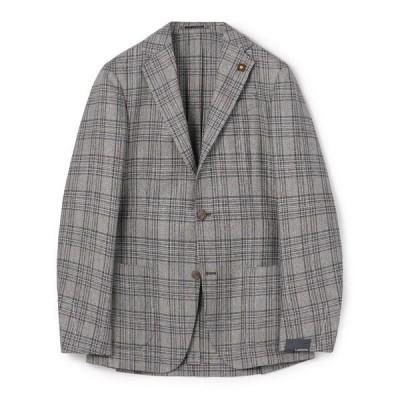 ジャケット テーラードジャケット LARDINI / シルクウールグレンチェック柄3釦ジャケット