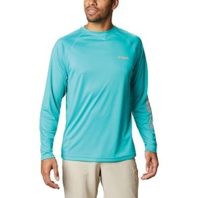 (取寄)コロンビア メンズ ターミナル タックル ロングスリーブ シャツ Columbia Men's Terminal Tackle LS Shirt Bright Aqua / Salmon L