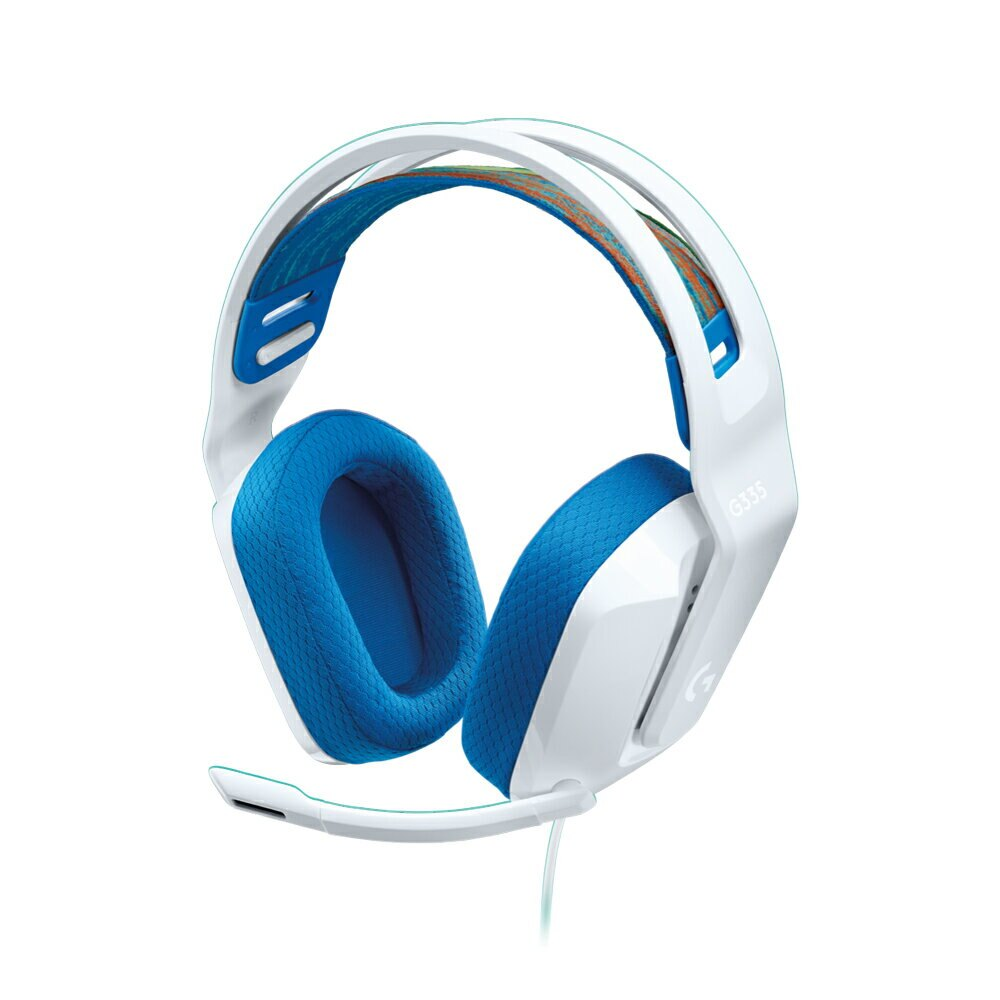 【logitech 羅技】G335 輕盈有線電競耳機麥克風 白色【三井3C】