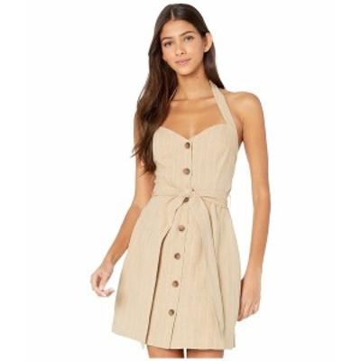 ロストアンドウォーター レディース ワンピース トップス Sun Tan Mini Dress Tan/White