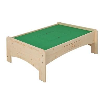 充英アート 天然木プレイテーブル (幅120×奥行91.6×高さ45cm) JAJAN ナチュラル JJ-120PTN