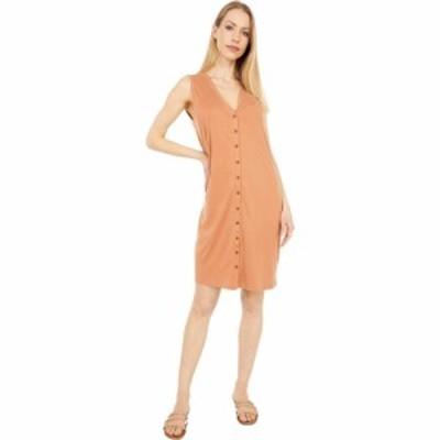 ラッキーブランド Lucky Brand レディース ワンピース タンクワンピース ワンピース・ドレス Sandwash Rib Tank Dress Amber Brown