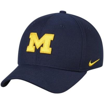 ユニセックス スポーツリーグ アメリカ大学スポーツ Michigan Wolverines Nike Classic Logo 99 Swoosh Performance Flex Hat - Navy