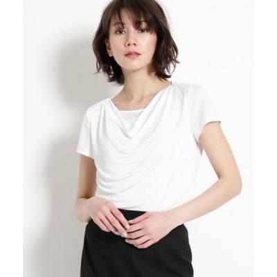 COUP DE CHANCE / 【洗える】ドレープカットプルオーバー WOMEN トップス > Tシャツ/カットソー