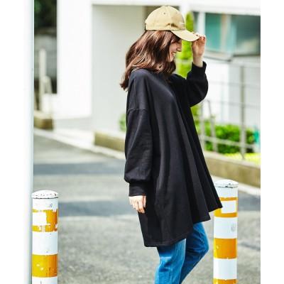 ジーラ GeeRA 【WEB限定】ビッグシルエットフレアースウェット (ブラック)