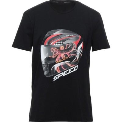 ロベルト カヴァリ ROBERTO CAVALLI SPORT メンズ Tシャツ トップス T-Shirt Black