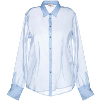 HER SHIRT シャツ スカイブルー XS シルク 100% シャツ