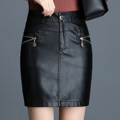 タイトスカート PUレザースカート Aラインスカート大きいサイズ レディース オフィス 通勤 美脚 ハイウェスト 着痩せ ボトムス 20代 30代秋冬ファッション