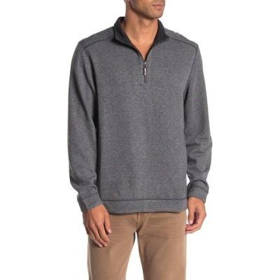 トッミーバハマ メンズ ニット&セーター アウター Half Zip Reversible Pullover Sweater COAL