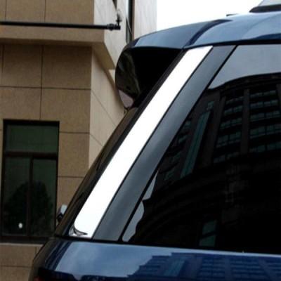 USクロームカバー、メッキカバー 2016フォードエクスプローラーSUV ABS 2本装飾用クロームリアウィンドウカバートリム  Chrome Rea