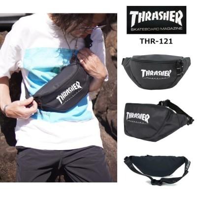 THRASHER スラッシャー Knee Slide ニースライド THR-121 ウエストバッグ ウエストポーチ  レディース メンズ 2WAY 撥水 耐水 無地 男女兼用