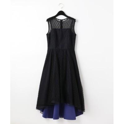 メッシュチュール刺繍ドレス