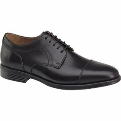 ジョンストン&マーフィー 革靴・ビジネスシューズ Branning Cap Toe Black Calfskin