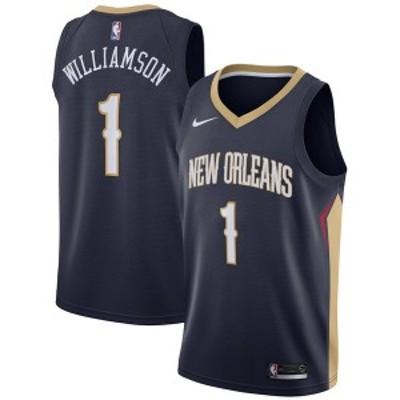 ナイキ メンズ Tシャツ トップス Zion Williamson New Orleans Pelicans Nike 2019 NBA Draft First Round Pick Swingman Jersey Navy Ic