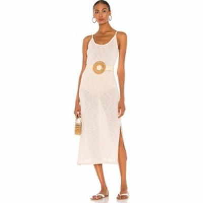 マジョレル MAJORELLE レディース ワンピース スリップドレス ミドル丈 ワンピース・ドレス Midi Slip Dress Natural Ivory